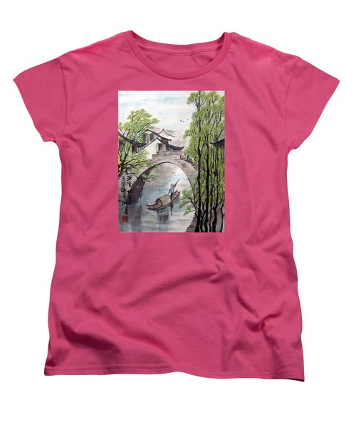 Spring In Ancient Watertown Women's T-Shirt (Standard Cut) by Yufeng Wang