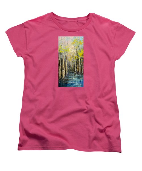 Women's T-Shirt (Standard Cut) featuring the painting Spring Wind by Tatiana Iliina