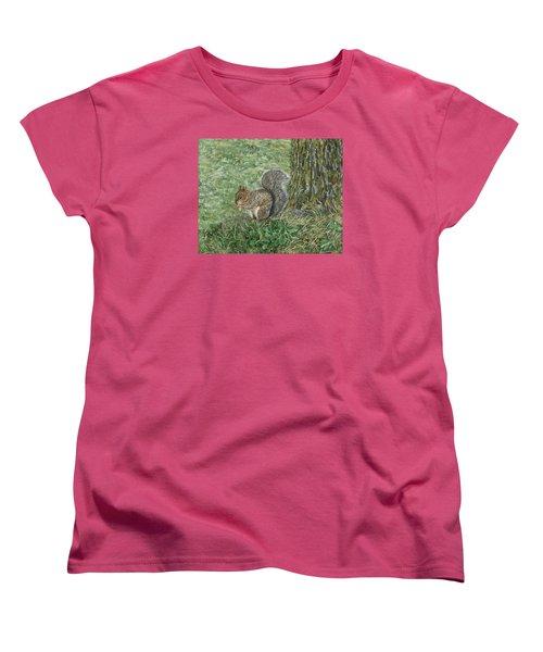 Squirrel Women's T-Shirt (Standard Cut) by Lucinda V VanVleck