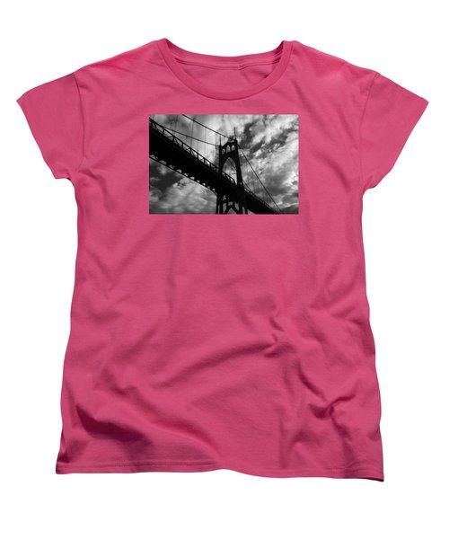 St Johns Bridge Women's T-Shirt (Standard Cut) by Wes and Dotty Weber