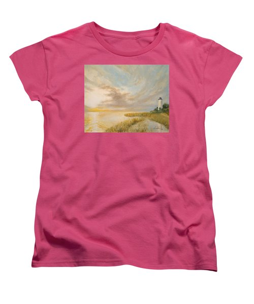 St Marks Lighthouse Women's T-Shirt (Standard Cut) by Alan Lakin