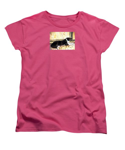 Women's T-Shirt (Standard Cut) featuring the painting Stable Duty by Angela Davies