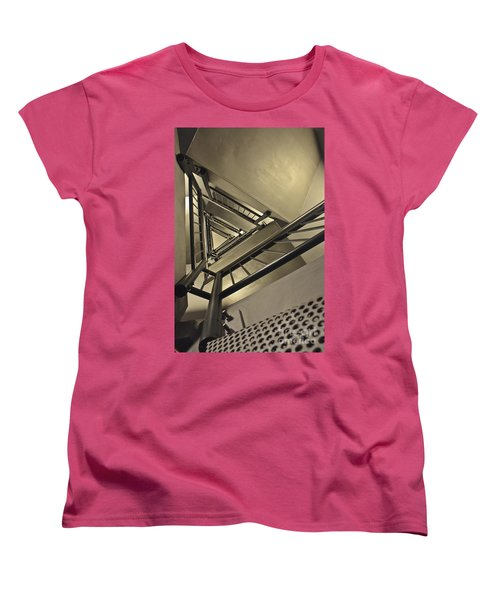 Women's T-Shirt (Standard Cut) featuring the photograph Stairing Up The Spinnaker Tower by Terri Waters