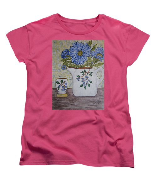 Stangl Blueberry Pottery Women's T-Shirt (Standard Cut) by Kathy Marrs Chandler