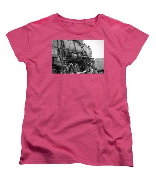 Steam Locomotive 1519 - Bw 02 Women's T-Shirt (Standard Cut) by Pamela Critchlow