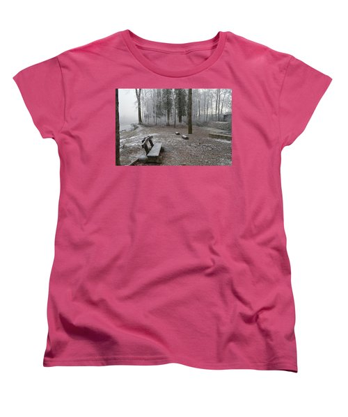Women's T-Shirt (Standard Cut) featuring the photograph Steep And Frost - 3 by Felicia Tica
