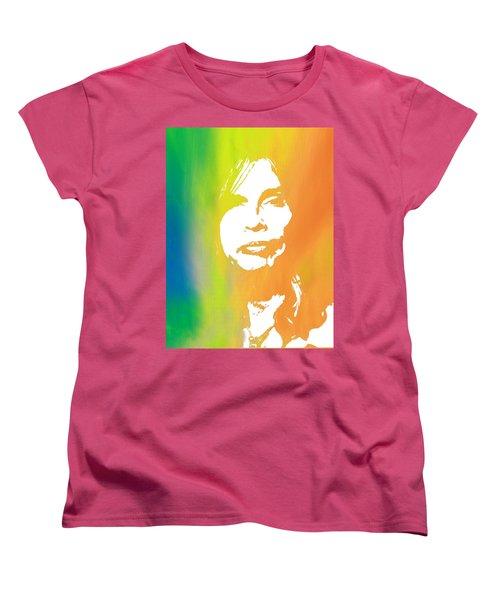 Steven Tyler Women's T-Shirt (Standard Cut) by Dan Sproul