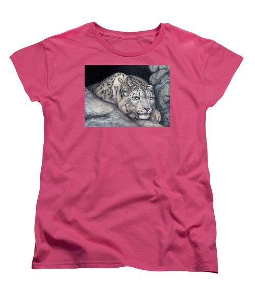 Women's T-Shirt (Standard Cut) featuring the painting Stillnes Like A Stone by Pat Erickson