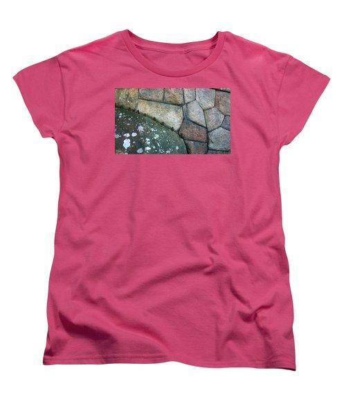 Stitched Stones Women's T-Shirt (Standard Cut) by Leena Pekkalainen