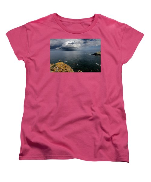 A Mediterranean Sea View From Sa Mesquida In Minorca Island - Storm Is Coming To Island Shore Women's T-Shirt (Standard Cut)