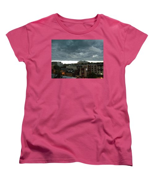 Women's T-Shirt (Standard Cut) featuring the photograph Storm Over West Chester by Ed Sweeney
