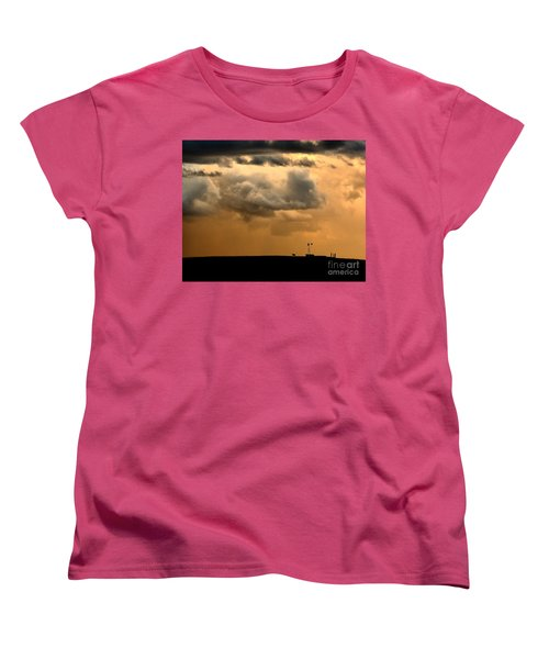 Storm's A Brewing Women's T-Shirt (Standard Cut) by Steven Reed
