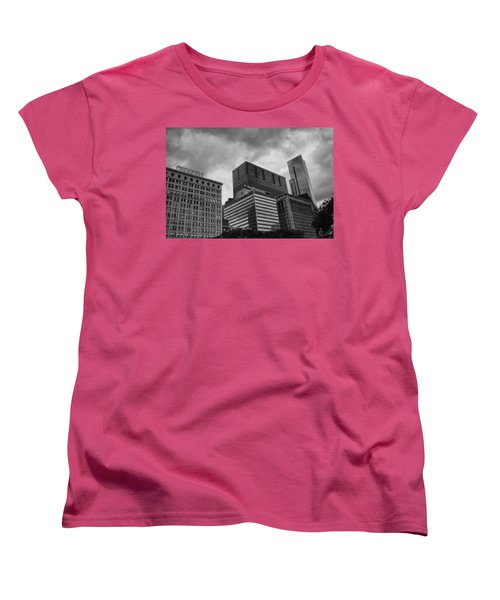 Women's T-Shirt (Standard Cut) featuring the photograph Stormy Skies by Miguel Winterpacht