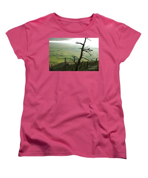 Women's T-Shirt (Standard Cut) featuring the photograph Stormy Tree by Mary Carol Story