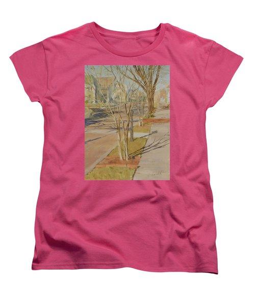 Street Trees With Winter Shadows Women's T-Shirt (Standard Cut)