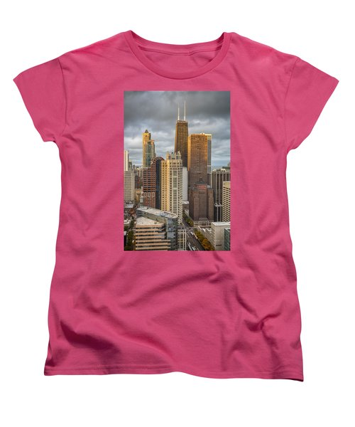 Streeterville From Above Women's T-Shirt (Standard Cut) by Adam Romanowicz
