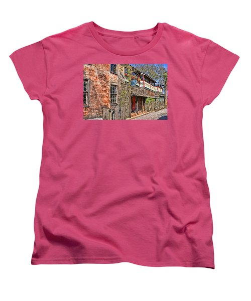 Women's T-Shirt (Standard Cut) featuring the photograph Streets Of St Augustine Florida by Olga Hamilton