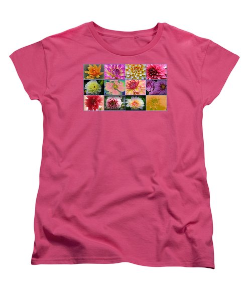 Summer Time Dahlias Women's T-Shirt (Standard Cut) by Dora Sofia Caputo Photographic Art and Design