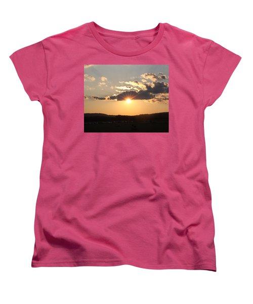 Summer Sunset Women's T-Shirt (Standard Cut) by Mustafa Abdullah