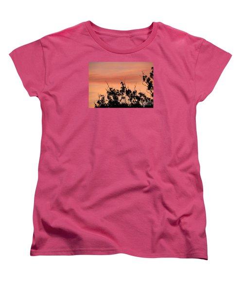 Women's T-Shirt (Standard Cut) featuring the photograph Sun Up Silhouette by Joy Hardee