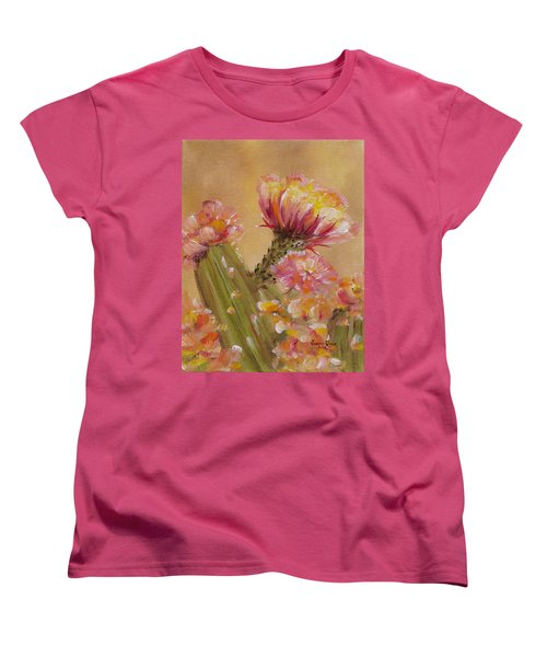 Women's T-Shirt (Standard Cut) featuring the painting Sun Worshipper by Judith Rhue