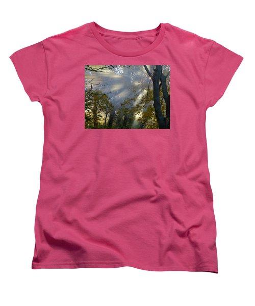 Women's T-Shirt (Standard Cut) featuring the photograph Sunbeam Morning by Dianne Cowen