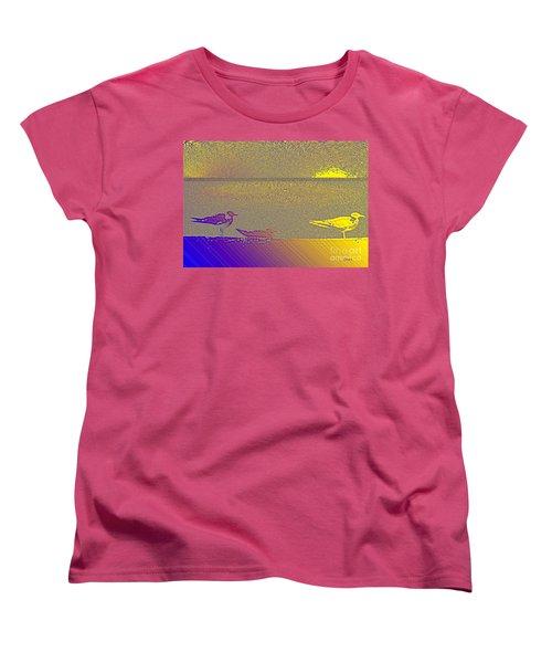 Women's T-Shirt (Standard Cut) featuring the photograph Sunbird by Ecinja Art Works