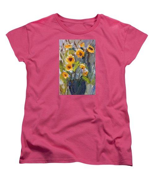 Sunflower Bouquet Women's T-Shirt (Standard Cut) by Michael Helfen