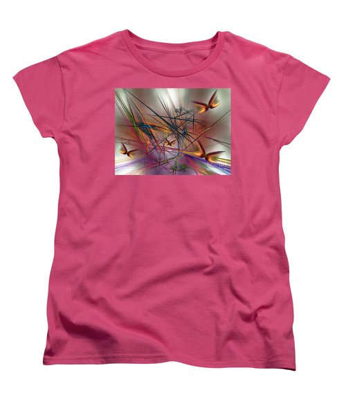 Sunny Day-abstract Art Women's T-Shirt (Standard Cut) by Karin Kuhlmann