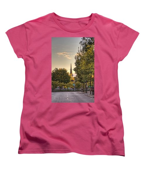 Sunrise At The End Of The Street Women's T-Shirt (Standard Cut) by Daniel Sheldon