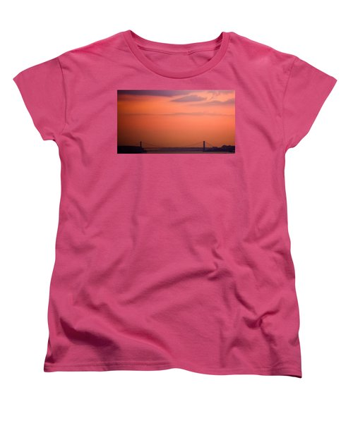 Women's T-Shirt (Standard Cut) featuring the photograph Sunrise In New York by Sara Frank