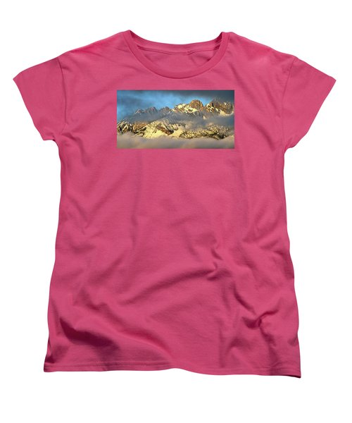 Sunrise On Thompson Peak Women's T-Shirt (Standard Cut) by Ed  Riche