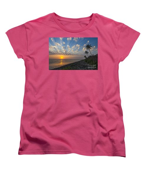 Sunset At Alibag, Alibag, 2007 Women's T-Shirt (Standard Cut) by Hitendra SINKAR