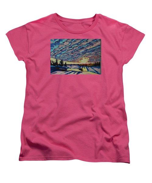 Sunset Deformation Women's T-Shirt (Standard Cut) by Phil Chadwick