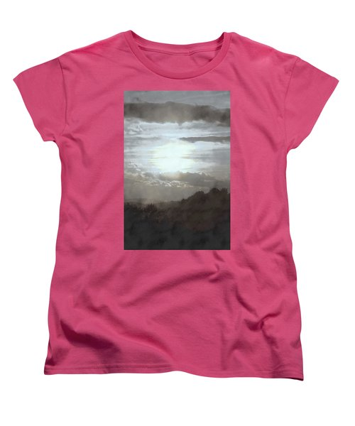 Sunset Impressions Over The Blue Ridge Mountains Women's T-Shirt (Standard Cut) by Photographic Arts And Design Studio