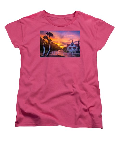 Women's T-Shirt (Standard Cut) featuring the photograph Sunset In Sandgate by Peta Thames