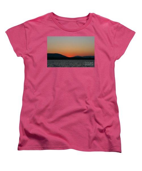 Sunset Lines Of Lake Umbagog  Women's T-Shirt (Standard Cut) by Neal Eslinger