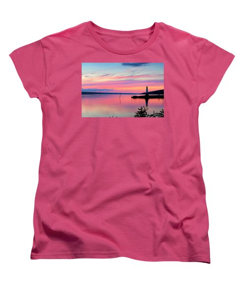 Sunset On Cayuga Lake Ithaca New York Women's T-Shirt (Standard Cut) by Paul Ge