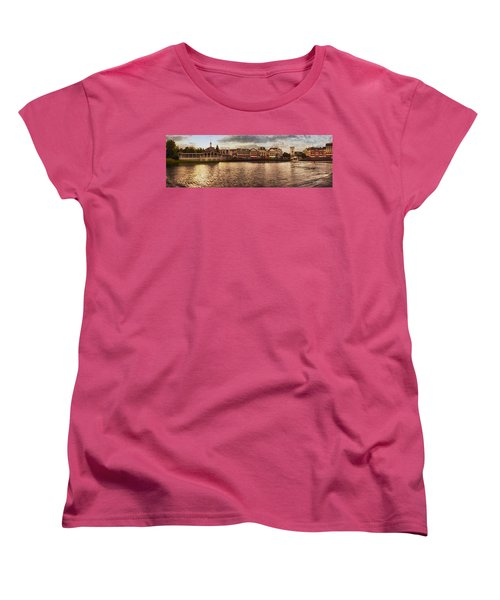 Sunset On The Boardwalk Walt Disney World Women's T-Shirt (Standard Cut) by Thomas Woolworth