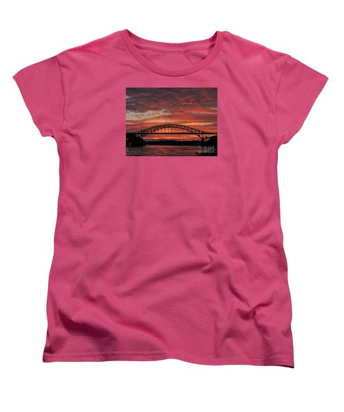 Sunset On The Piscataqua         Women's T-Shirt (Standard Cut) by Marcia Lee Jones