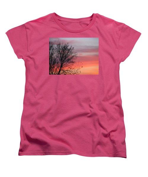 Sunset Silhouette Women's T-Shirt (Standard Cut)