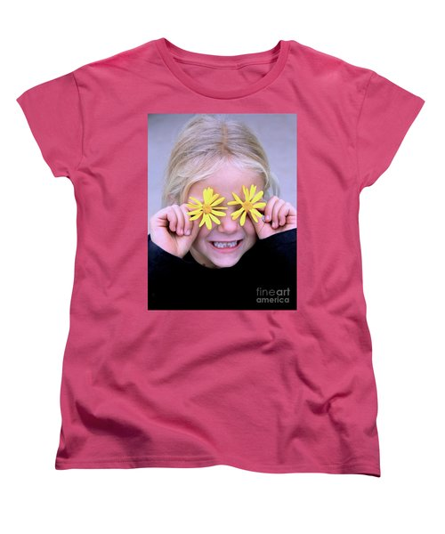 Sunshine Smile Women's T-Shirt (Standard Cut) by Suzanne Oesterling