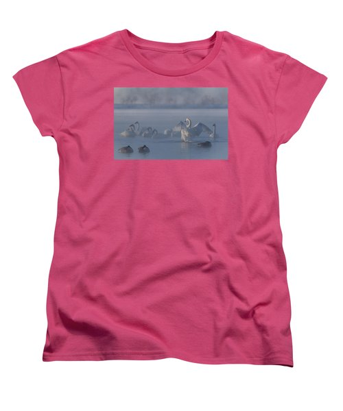 Women's T-Shirt (Standard Cut) featuring the photograph Swan Showing Off by Patti Deters
