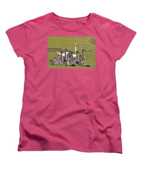 Swans Family Women's T-Shirt (Standard Cut) by Mike Santis