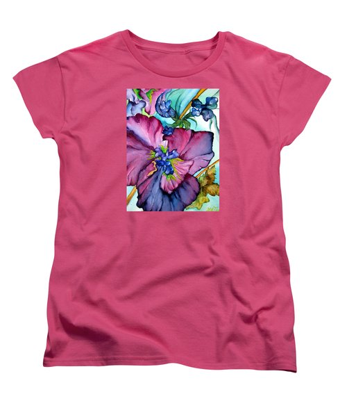 Sweet And Wild In Turquoise And Pink Women's T-Shirt (Standard Cut) by Lil Taylor