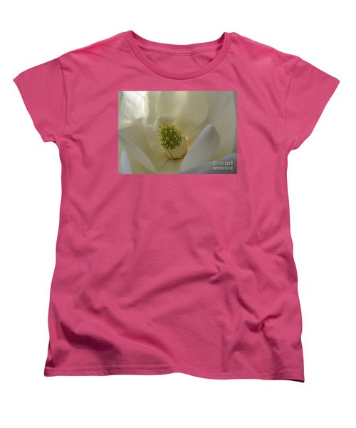 Sweet Magnolia Women's T-Shirt (Standard Cut) by Peggy Hughes