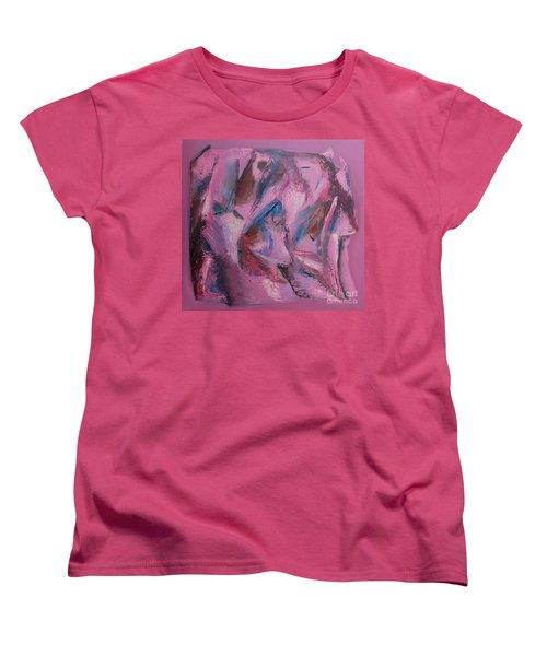 Women's T-Shirt (Standard Cut) featuring the painting Syncopation 5 by Mini Arora