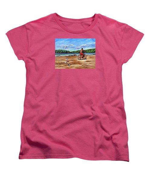 Taking A Ride  Women's T-Shirt (Standard Cut) by Laura Forde