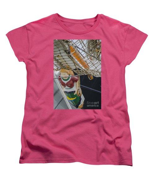 Women's T-Shirt (Standard Cut) featuring the photograph Tall Ship Gunilla Masthead by Dale Powell