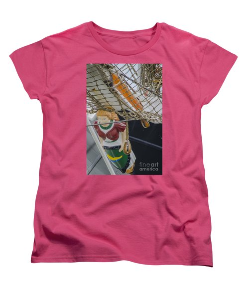 Tall Ship Gunilla Masthead Women's T-Shirt (Standard Cut) by Dale Powell